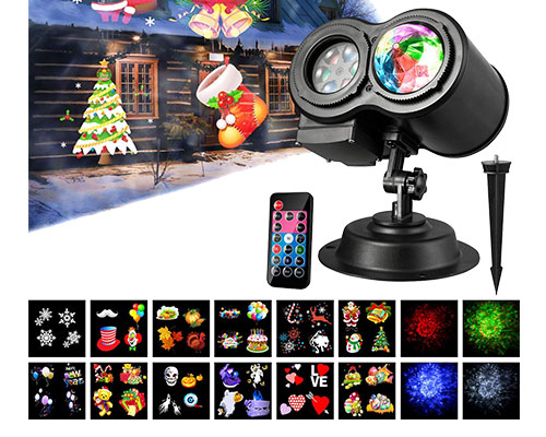 2 in 1 Outdoor-Indoor Party Lights Landscape Garden Lighting Projector for Christmas