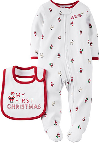 Carter's Unisex Baby My First Christmas Sleep & Play Set