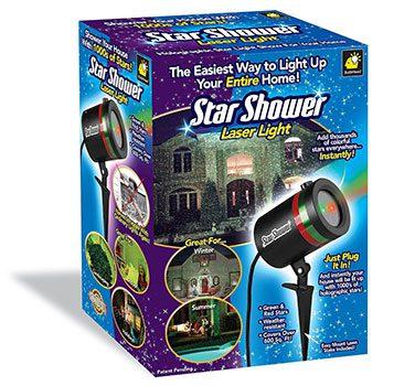 Star Shower Outdoor Laser Christmas Lights, Star Projector