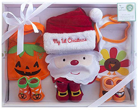 My First Christmas, Halloween & Thanksgiving Holiday Outfit Baby Gift Set
