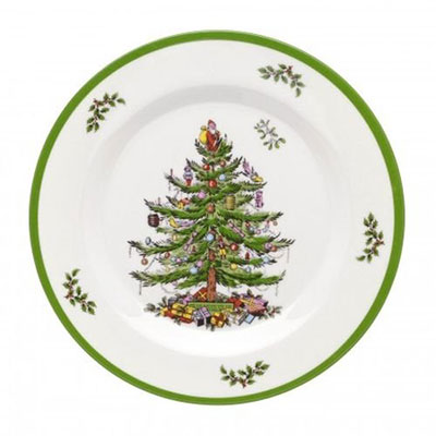 Spode Christmas Tree Melamine Salad Plate, Set of 4