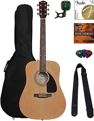 Fender FA-100 Acoustic Guitar Bundle
