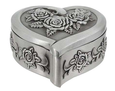 Multifit Antique Trinket Jewelry Box