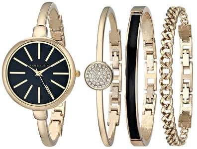 Anne Klein Women's AK/1470 Bangle Watch and Bracelet Set