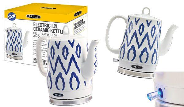 BELLA 1.2L Electric Ceramic Tea Kettle