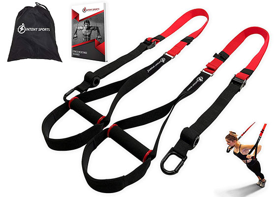 Bodyweight Fitness Resistance Trainer Kit with Pro Straps for Door, Pull up Bar or Anchor Point