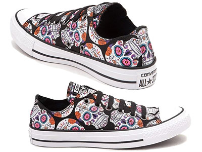 Converse Unisex Chuck Taylor All Star Ox Basketball Shoe with the skull design