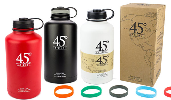 Degree Latitude Stainless Steel Insulated Water Bottle