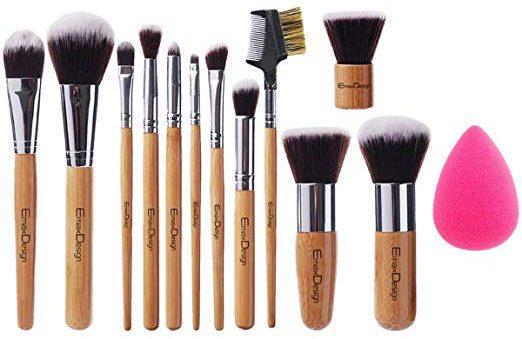EmaxDesign 12+1 Pieces Makeup Brush Set