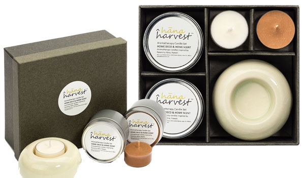 Hana Harvest Scented Candles Premium Gift