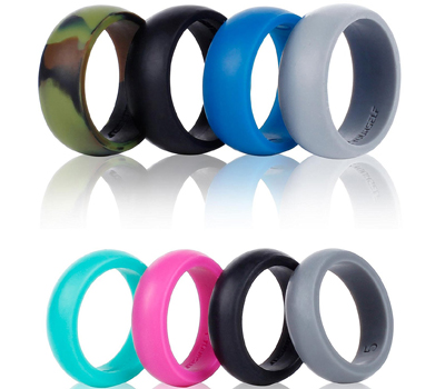 SYOURSELF Silicone Wedding Ring Band for Men or Women
