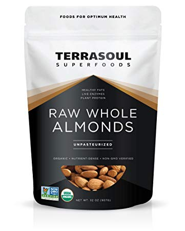 Terrasoul Superfoods Raw Unpasteurized Organic Almonds (Sproutable)