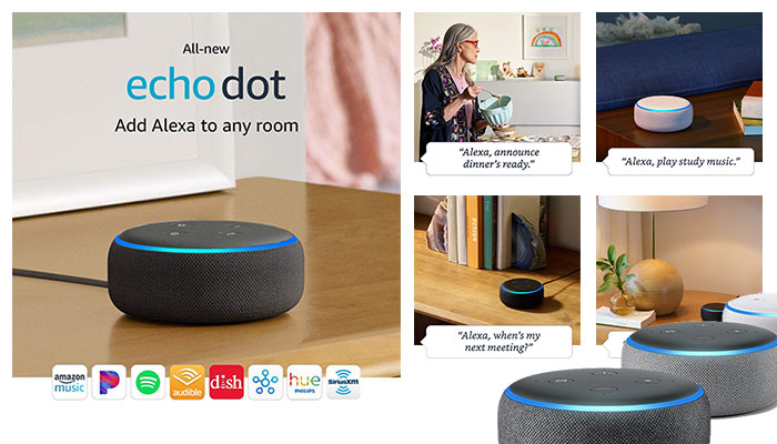 All-New Echo Dot (3rd Gen) – Smart speaker with Alexa