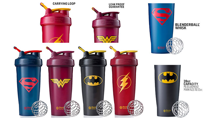 BlenderBottle Justice League Superhero Shaker Bottle