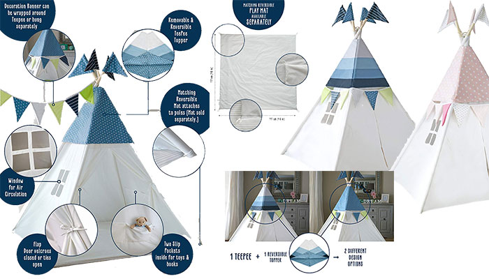 COZY CULTURE Teepee Tent