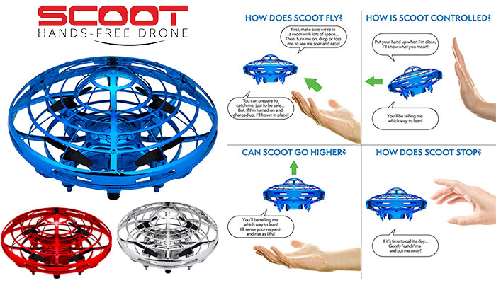 Scoot Motion Hand Controlled Drone