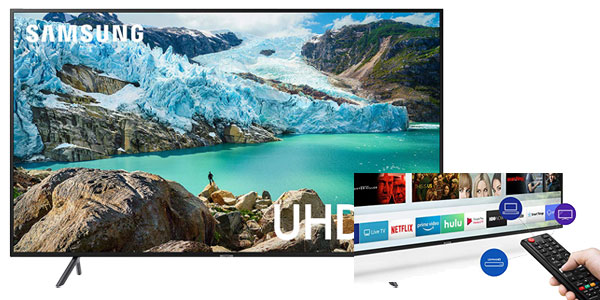 Samsung UN50RU7100FXZA Flat 50-Inch 4K UHD 7 Series Ultra HD Smart TV